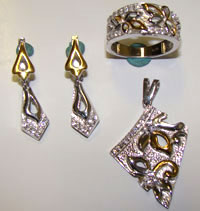 Silver Jewellery Sets MS 56