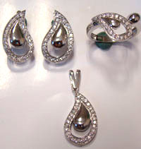 Silver Jewellery Sets MS 69