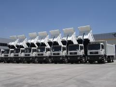 Dumpers for transporting of granular materials