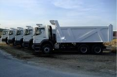 Dumpers for transporting of crushed stone