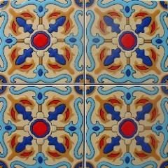 Endülüs Karosu 15x15 cm Kabartmalı Fayans Seramik