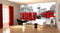 Londra Red Manzara Resimli Duvar Kağıdı