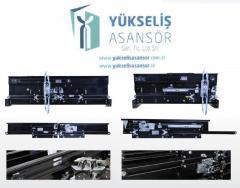 Лифтовые (балки) механизмы центрального и телескопического открывания дверей шахт и кабин