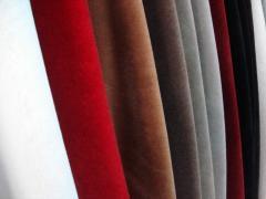 Ткань из искусственной кожи Однотонные цвета