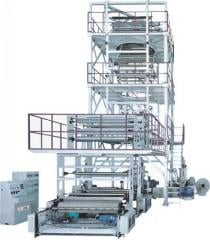 Multi-layer coextrusion (rotary upward traction) film blowing machine