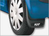 Bumpers and mud guards for automobiles