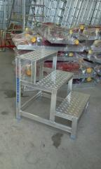 Aluminum folding stairs
