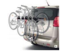 Automobile bicycle racks