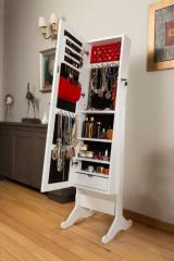 Mirrored Jewelry and Accessory Cabinet with leg