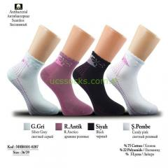 Dotted Flower-Patterned Socks for Women