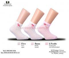 Accessorized Ankle Fishnet Socks for Children