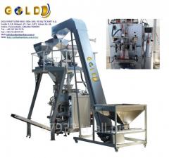 Фасовочно-упаковочный аппарат вертикального типа с 4-поточным линейным весовым дозатором GOLD500