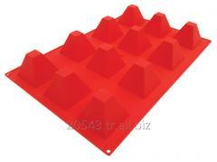 Piramit silikon kalıp - silicone cake mould