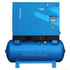 Screw Air Compressor Alpha-15 Hp 11 KW air tank