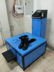 Military shoe cleaning and painting vending