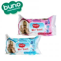 Buno Baby Wet Wipes 60 & 72 & 90 & 100 & 120 Pcs