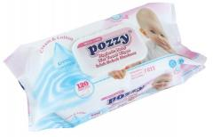 POZZY BABY WET WIPES 120pcs (ДЕТСКИЕ ВЛАЖНЫЕ САЛФЕТКИ POZZY 120шт.)