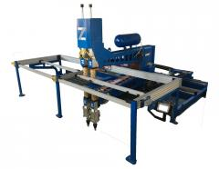 PLC CONTROLED AUTOMATİC  SPOT WELDER  WİTH  DOUBLE WELDİNG HEAD