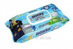 PONKY BABY WET WIPES 70pcs. (ДЕТСКИЕ ВЛАЖНЫЕ САЛФЕТКИ PONKY 70шт.)
