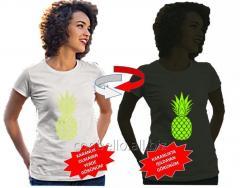 Karanlıkta Parlayan Desenli Nano Teknolojik T-Shirts