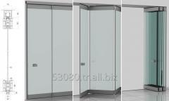 KCS-X  HINGED FOLDING GLASS DOOR  SYSTEM-RAILED