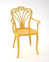 Dekoratif Döküm Renkli Bahçe Sandalye