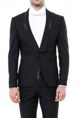 Şal Yaka Siyah Damatlık Takım Elbise