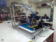 Tekstil gofre  kabartma baskı için özel yarı otomatik serigrafi baskı makinesi