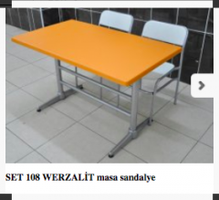 SET 108 WERZALİT masa sandalye