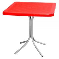 FONTE 70X70cm PLASTIC TABLE WITH ALUMINIUM LEGS