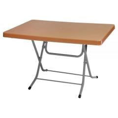 ROCCIA 70x110cm PLASTIC FOLDING TABLE WITH METAL LEGS