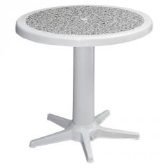 ROSE Ø75 PLASTIC TABLE WITH DECORATED