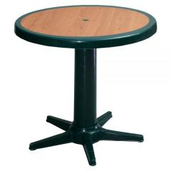 LUCE Ø85 PLASTIC TABLE WITH DECORATED