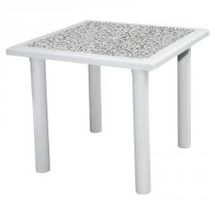 ANNO 80x80cm PLASTIC TABLE WITH DECORATED