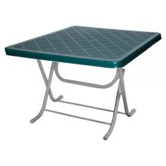 FULMINE 100x100cm PLASTIC FOLDING TABLE WITH METAL LEGS
