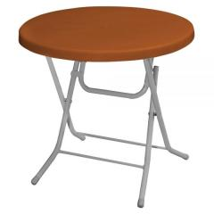 ROSE Ø75 PLASTIC FOLDING TABLE WITH METAL LEGS