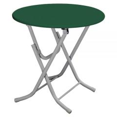 PACE Ø 60CM PLASTIC FOLDING TABLE WITH METAL LEGS