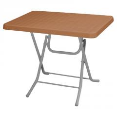 PICNIC 60x85cm PLASTIC FOLDING TABLE WITH METAL LEGS