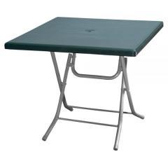 PANDA 80x80cm PLASTIC FOLDING TABLE WITH METAL LEGS