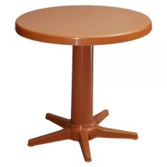 ALLEGRO Ø85 PLASTIC TABLE WITH METAL LEGS