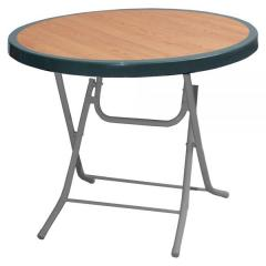 LUCE Ø85 PLASTIC FOLDING TABLE WITH METAL LEGS & DECORATED