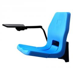 PERLA-MEDIA BLOW MOULDED & FOLDING STADIUM SEAT WITH MEDIA DESK