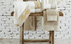Organik Pamuk Banyo Havlu Takımı (Hamam Seti) - Hanzade