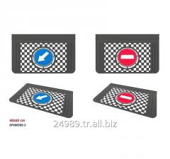 Mud Flap For Truck 40x65x0,6cm Stop - Go Design Embossed Mud Flap (Relieve) - Universal Mudflap