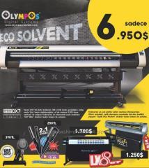 Olympos eko solvent dijital baskı makinesi