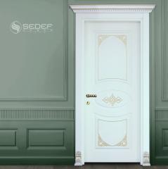 Specially designed white interior door