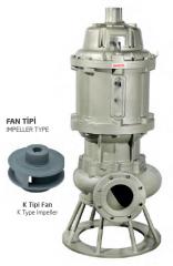 Pik Gövdeli Trifaze Atık Su Dalgıç Elektropomplar AST - K Tipi Fan