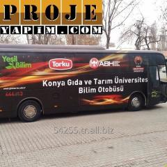 Special purpose bus modification advertisement promotion Enet buses project and modification