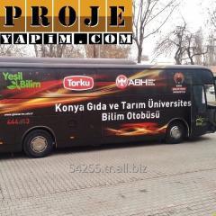 Special purpose bus modification advertisement