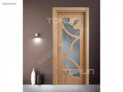 Glazed PVC Membrane Interior Room Door